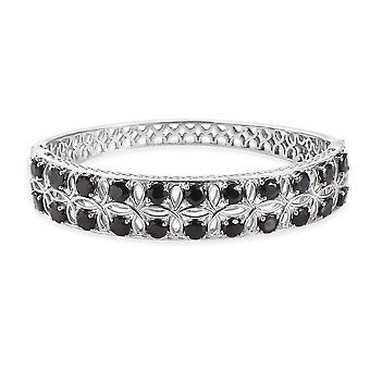 Silver Platinum Plated Tennis Design Bangle for Women Shungite 7.5