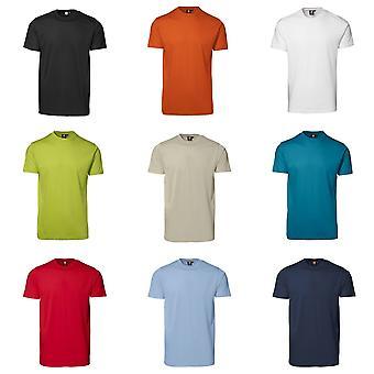 ID ユニセックスはい半袖装着プレーン コットン t シャツ