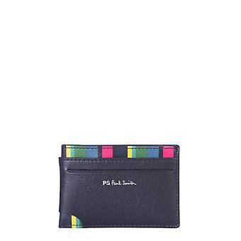 Ps By Paul Smith M2a6143apsstr79 Men's Black Leather Card Holder