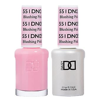 DND Duo Gel & Nail Polish Set - Blushing Pink 551 - 2x15ml