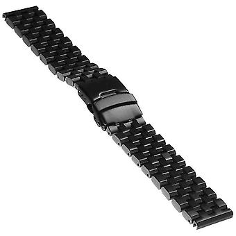 Watch bracelet made by strapsco for super engineer watch bracelet black stainless steel sizes 20mm, 22mm, 24mm