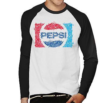 Pepsi 70s Doodle Art Logo mannen honkbal lange mouwen T-Shirt