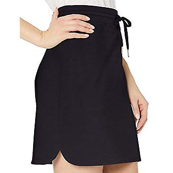 Brand - Daily Ritual Women's Terry Cotton and Modal Sweatshirt Skirt, Navy, Small