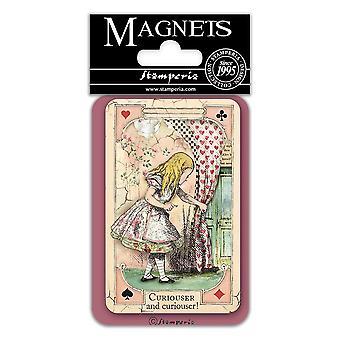 Stamperia Alice Curious 8x5.5cm Magnet