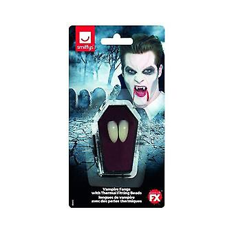Smiffys Make-Up FX, Vampire Fangs Adult White