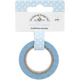 Doodlebug Design Bubble Blue Swiss Dot Washi Tape