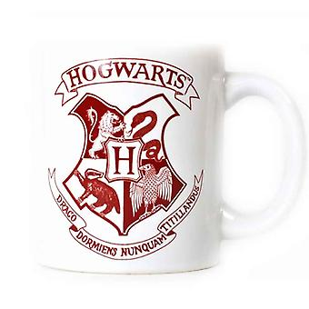 Harry Potter Mug Hogwarts House Crest Logo new Official White Boxed