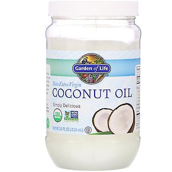 Garden of Life, Raw Extra Virgin Coconut Oil, 14 fl oz (414 ml)