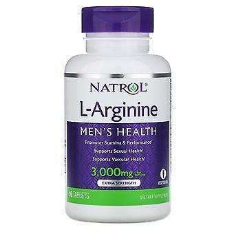 Natrol, L-Arginin, 3 000 mg, 90 Tabletter