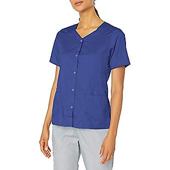 WonderWink Women's Wonderwork Short Sleeve Snap Jacket, Navy, Medium