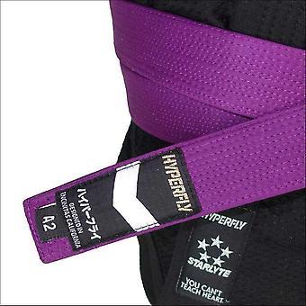 Hyperfly deluxe bjj gi belt purple
