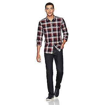 العلامة التجارية - Goodthreads الرجال & apos;ق سليم تناسب طويلة الأكمام منقوشة قميص الرنجة ...