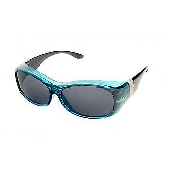 Sunglasses Women's Crossover Blue Striped (2033A)