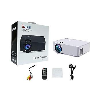 E08 LCD+LED Portable Projector 1500LM 800x480 Pixels HDMI Home Media Player Projection Ceiling UK Plug