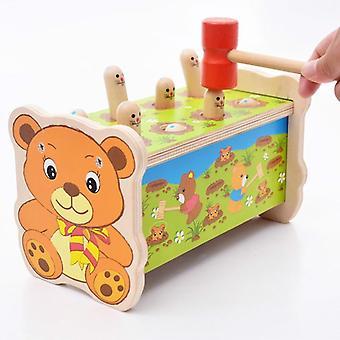 Montessori παιδιά ξύλο παζλ χάμστερ παιχνίδι παζλ κυκλοφορίας παζλ εκπαιδευτικό παιχνίδι