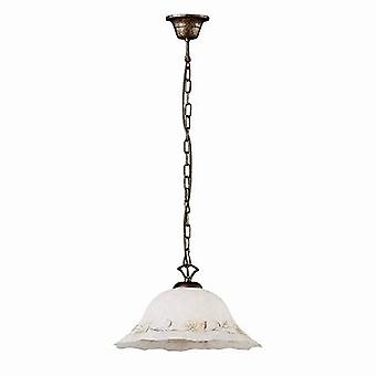 ideell lux foglia - 1 lys dome tak anheng hvit, svart, dekorert glass, E27