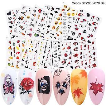 Autocollant manucure 3d pour nail art et tatouage temporaire