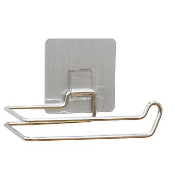 Roll Paper Holder, Stainless Steel Repeatedly Washable Stick Hooks