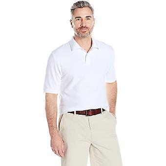 Essentials Men's Regular-Fit Cotton Pique Polo Shirt, White, X-Large