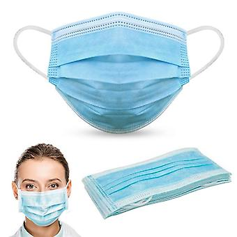 POWCOG™ 100 x Disposable 3-Ply Face Masks with Ear Loops for Adults & Child in a Sealed Bag - One Size