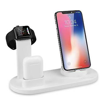 Zikko Zw8015 Fast Wireless Intelligent Charger For Iphone 4in1 X / Iphone 6s / Xr Iphone / Samsung S9 / Airpods