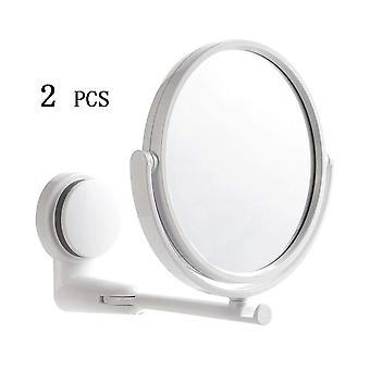 Wall Mount Vanity Folding Without Drill Swivel Arm Extend Makeup Mirror