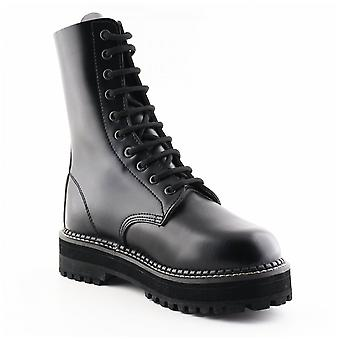 Grinders Ladies Only Taylor Cs Black Non Steel Toe 10 Eye Derby Boots