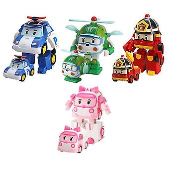 Poli Car Robot, Transform Vehicle Cartoon Anime Action Figure