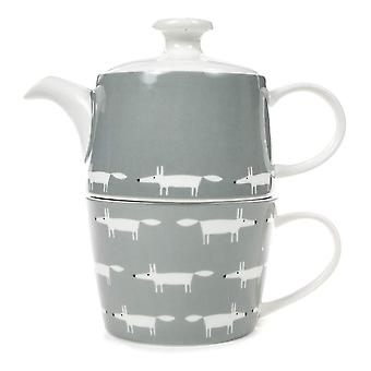 Scion Mr Fox Tea for One, Dove Grey