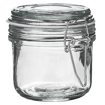 Argon Ový úložný pohár na sklo s vzduchotesným vekom - 200ml - Biele tesnenie