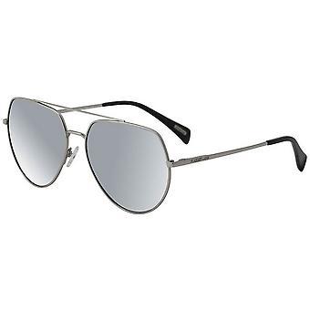 Dirty Dog Vertex Satin Mirror Polarised Sunglasses - Silver/Grey