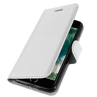 Apple iPhone 7 / 8 / SE 2020 Wallet Cover, Etui mit Standfunktion – Weiß