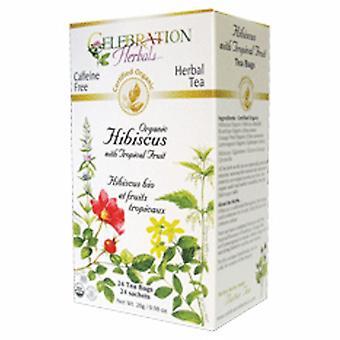 Celebration Herbals Organic Hibiscus with Tropical Fruit Tea, 24 Bags