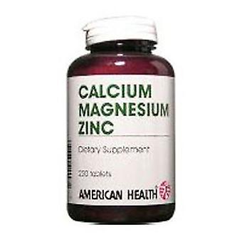 American Health Chelated Calcium & Magnesium with Zinc, 250 Tabs