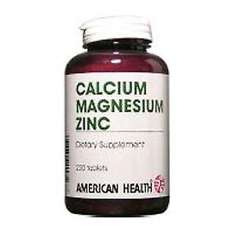 Amerikan terveys Kelatoitu kalsium ja magnesium sinkillä, 250 tabia
