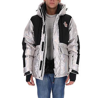 Moncler Grenoble 1b51454amt900 Men's Silver/black Nylon Down Jacket