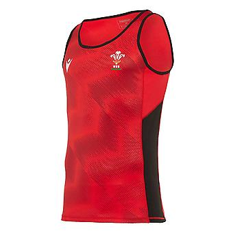2020-2021 Wales Poly Dry Singlet (Red)