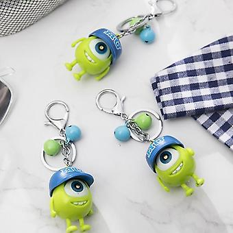 Cute Monsters Figure Led Keychain Mike Big Eyes Figure Toy
