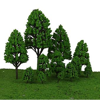 12pcs Poplar Plastic Trees Model For Scenery Landscape/park Street Layout