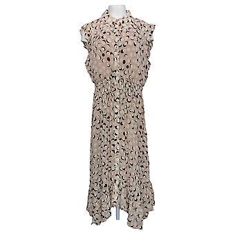 G by Giuliana Plus Dress Printed Tank With Ruffle Hem Pink 692-511