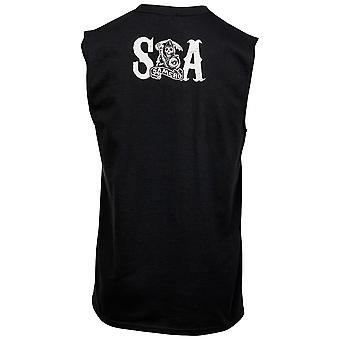 Sons of Anarchy Crossed Weapons Logo and Back Print Sleeveless T-Shirt