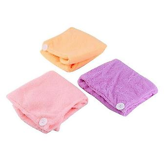 Quickly Dry Hair Hat - Cap Bath Drying Towel ,head Wraps