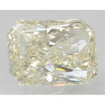 Certified 1.02 Carat H Color VS1 Radiant Natural Loose Diamond 6.89x5.12mm 2EX