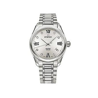 Luxury Eterna Silver Tone Diamond Kontiki Watch for Woman 126041161731