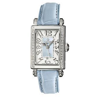 Gevril Women&s 8247NE Super Mini Quartz Parelmoer Diamond Horloge