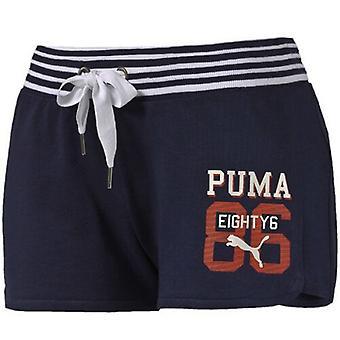 Puma Стиль Спортивные женские шорты военно-морского флота 836403 06 A1D