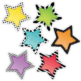 "Bold & Bright Stars 10"" Designer Cut-Outs, 12/Pack"