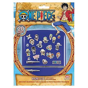 One Piece Chibi Fridge Magnet Set (Pack of 20)
