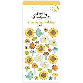 Doodlebug Design Fall Friends Shape Sprinkles