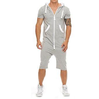 الصيف عارضة Tracksuit jumpsuit Mens كم هوديس صالة ألعاب رياضية السراويل القصيرة